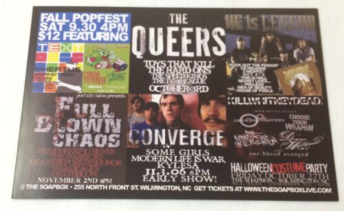 2006 promo postcard~THE QUEERS, HE IS LEGEND, KILLWHITNEYDEAD, CONVERGE, more
