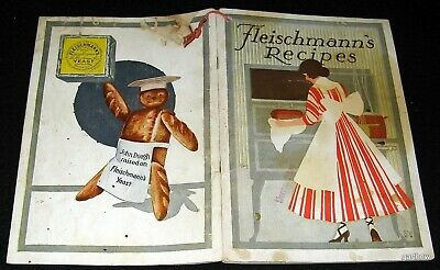 FLEISCHMANN'S RECIPES 1915 BOOKLET ILLUSTRATED BAKING BREADS & SUMMER DRINKS - Summer Drinks Recipe