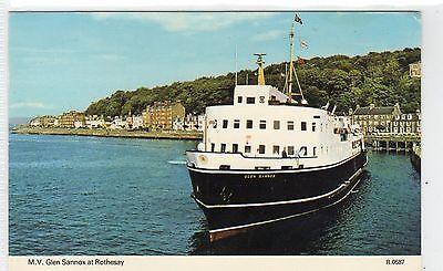 MV GLEN SANNOX AT ROTHESAY: Isle of Bute postcard (C7450)