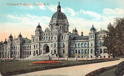 Antique Postcard Parliament Buildlings, Victoria B.C