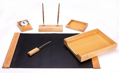 Majestic Goods 6 Piece Oak Wooddesk Setw418