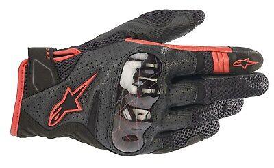 Alpinestars Rio Hondo V2 Air Gloves kurze Motorradhandschuhe MM93 black red