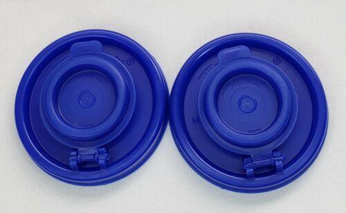Tupperware Replacement Salt and Pepper Seals / Lids Set 2 Blue NEW