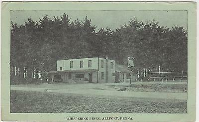 Allport Pennsylvania Whispering Pines Clearfield County Used 1940