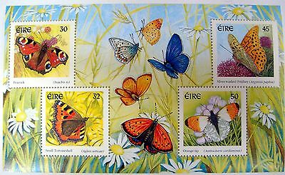 IRELAND 2000 BUTTERFLY STAMPS SOUVENIR SHEET BUTTERFLIES INSECT MOTH IRE-BF