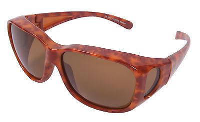 SONNENÜBERBRILLE DAMEN Polarisiert Sonnenbrille über die Brille Schildpatt: Groß