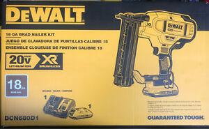 Dewalt 20v Max 18g Nailer Kit Brand New in Box