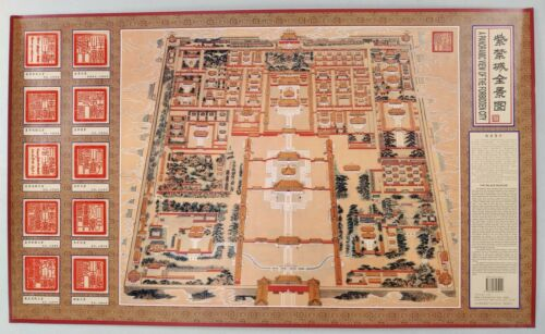 A Panoramic View of the Forbidden City: China - The Palace Museum VTG Poster