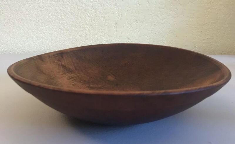 "Munising  1920-40 Wooden Dough Chopping Bowl 10 1/2"""