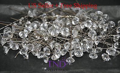 "BOX OF 144 DIAMOND HEAD CORSAGE BOUQUET BOUTONNIERE FLORAL PINS 1.5"" 2"" 2.5"""