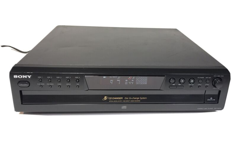 Sony CDP-CE275 5 Disc CD Player Compact Disc Carousel Changer Cleaned Tested