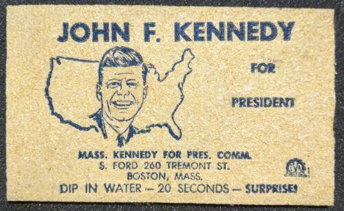 Vintage 1960 John F. Kennedy For President Campaign Sponge Boston Mass JFK