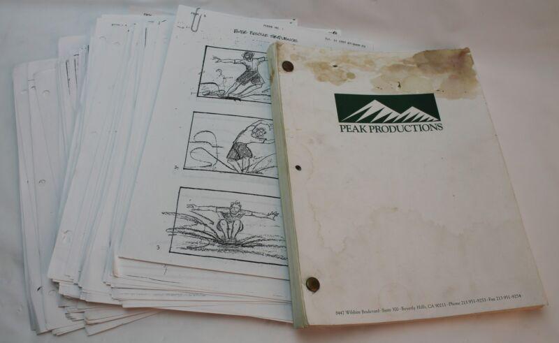MEET THE DEEDLES / 1997 Storyboards & Screenplay, Rare early career Paul Walker