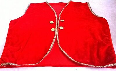 Multicultural Aladdin/Alibaba waistcoats for adults/ children's School - Aladdin Costume For Adults