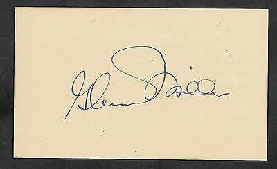 Glenn Miller Autograph Reprint On Genuine Original Period 1940s 3x5 Card