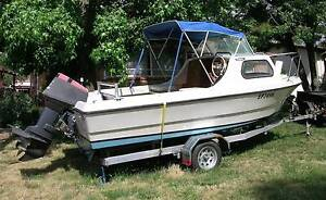 PONGRASS 5.2M HALF CABIN 60HP YAMAHA 2 STROKE Canberra City North Canberra Preview