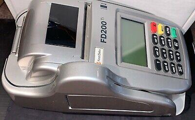 First Data Fd200ti Credit Card Terminal Fd-35 Pin Pad Chip Check Credit Atm