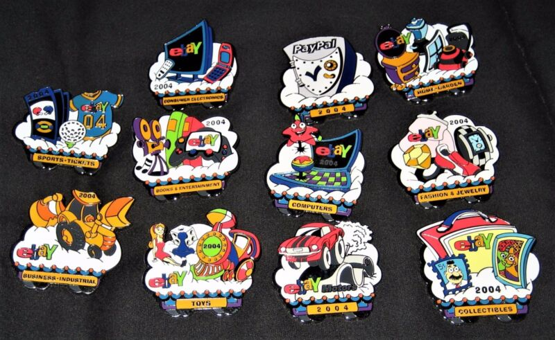 Vintage 2004 eBay Live New Orleans Set of 14 Collectible Pins
