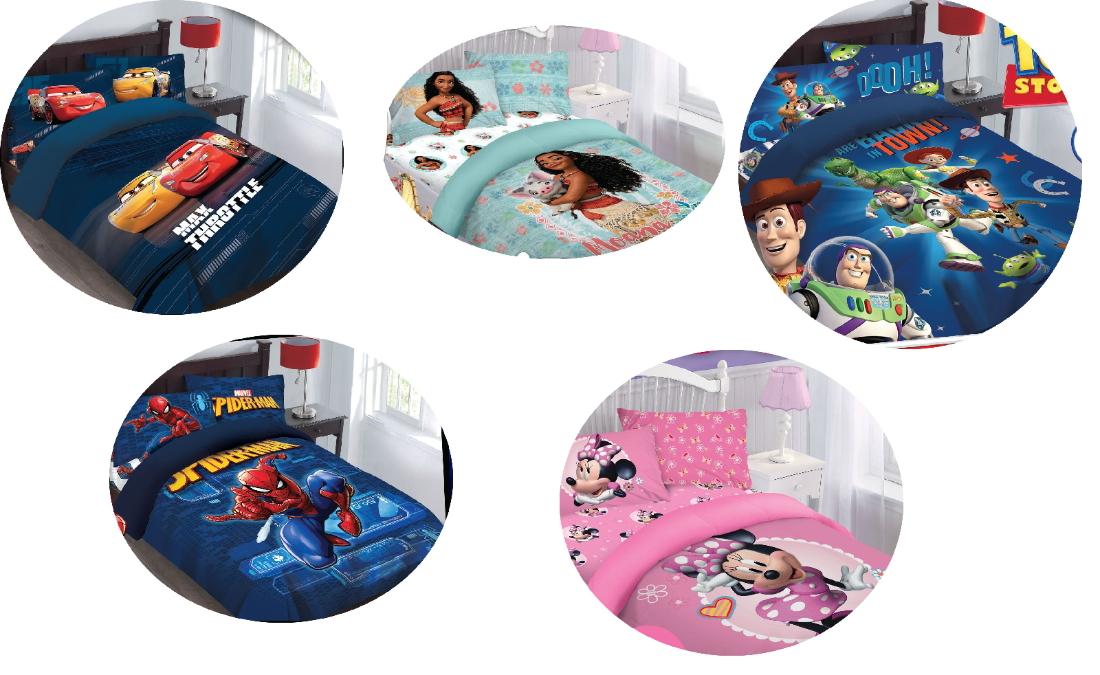 DISNEY MOVIES TWIN /FULL PRINTED COMFORTER BEDDING BED SET F