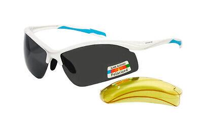 Rainbow gafas de sol Polarizadas Deporte Cristales Intercambiables 3296R Blanco