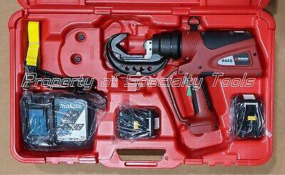 Burndy Pat444sli Hydraulic Battery Operated Crimper Dieless Crimping Tool 11 Ton