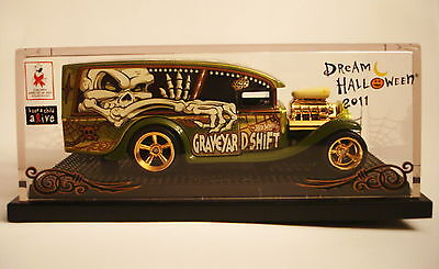 HOT WHEELS 2011 DREAM HALLOWEEN GRAVEYARD SHIFT BLOWN DELIVERY NEW MINT - Graveyard Halloween
