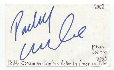 Paddy Considine Signed 3x5 Index Card Autographed Signature Actor - $36.00