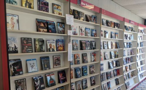 Lot of 3800x Movies VIDEO STORE CONTENTS DVD VHS BluRay plus SHELVING Business