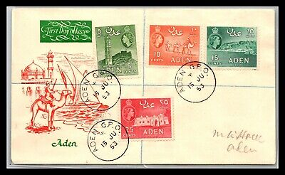 GP GOLDPATH: ADEN COVER 1953 FIRST DAY OF ISSUE _CV676_P04
