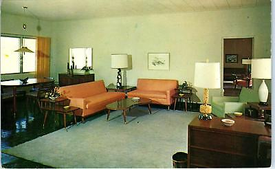 ST THOMAS, VI  2 Postcards YACHT HAVEN COTTAGES   c1950s Midcentury Modern Furn,