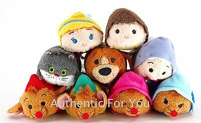 NEW Authentic US Disney Parks Cinderella Tsum Tsum Mini Plush Complete Set of 9