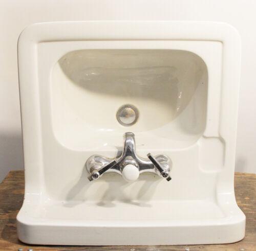 Vintage Crane Sink Small Porcelain Retro Design Unique Bathroom Lavatory