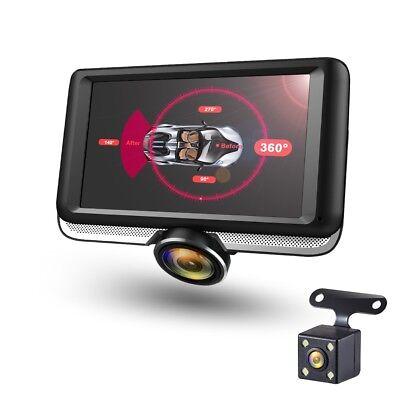 360° Panorama DashCam DVR Dual Autokamera Full HD Parküberwachung Parkpilot WDR