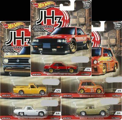 Hot Wheels 2020 Car Culture Japan Historics 3, Set of 5 In-stock FPY86-956P