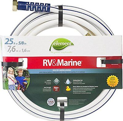 - Swan Element Marine/RV Camping and Boating Water Hose 25 ft, White