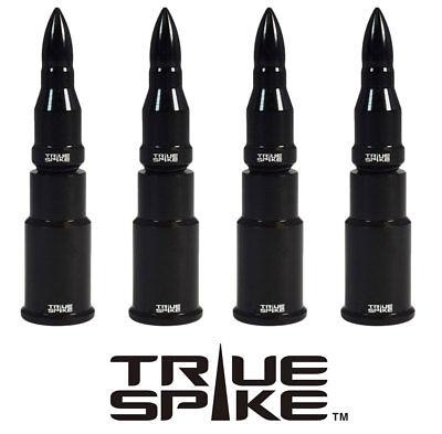4 TRUE SPIKE BLACK BULLET TIRE WHEEL AIR VALVE STEM CAP FOR DODGE SUV TRUCK