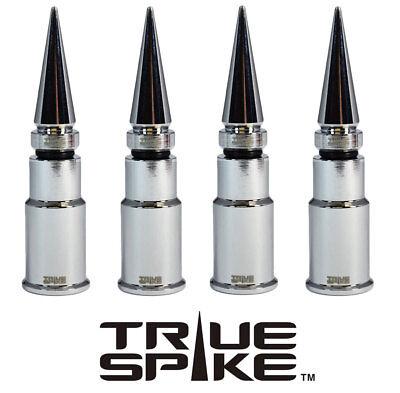 4 TRUE SPIKE CHROME SPIKED TIRE WHEEL AIR VALVE STEM CAP FOR DODGE SUV TRUCK