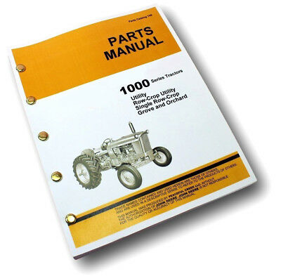 Parts Manual For John Deere 1010 Tractor Catalog Gas Diesel Exploded Views Book