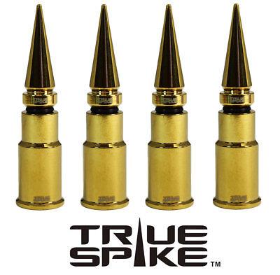 4 TRUE SPIKE GOLD SPIKED TIRE WHEEL AIR VALVE STEM CAP FOR DODGE SUV TRUCK