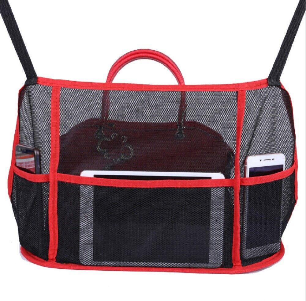 Car Net Pocket Handbag Holder Organizer Auto Interior Seat Side Storage Mesh Bag Home & Garden