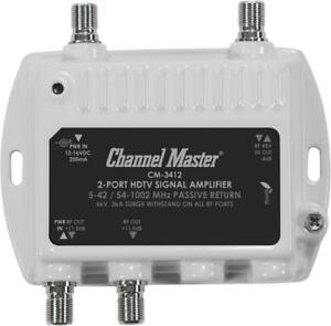 NEW Channel Master CM 3412 TV Antenna Distribution Amplifier Booster CM3412