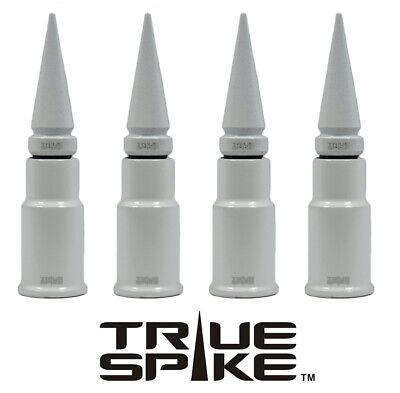 4 TRUESPIKE WHITE SPIKED TIRE WHEEL AIR VALVE STEM CAP COVER FOR DODGE SUV TRUCK