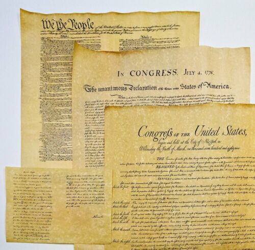 Declaration of Independence, Bill of Rights, and Constitution and Gettysburg