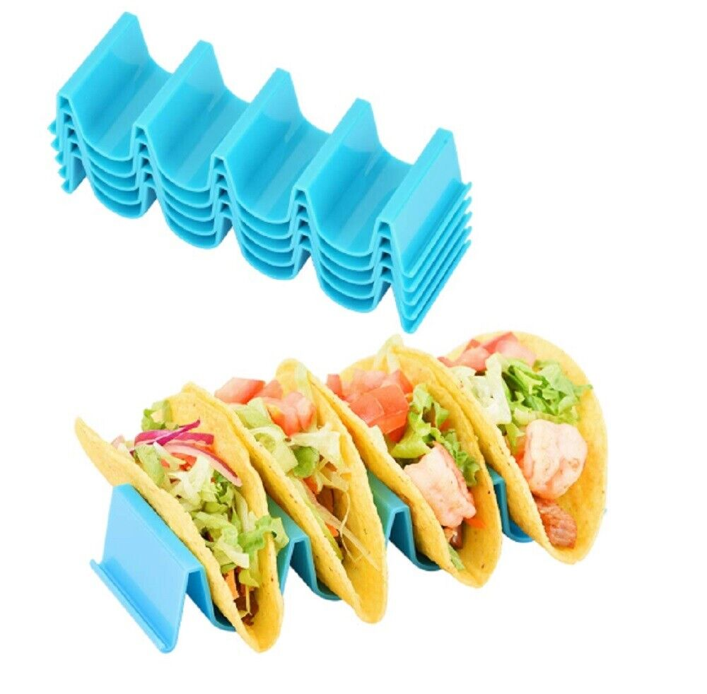 4 Pcs Taco Holder Mexican Food Wave Shape Hard Rack Stand Kitchen Cooking Tool Home & Garden