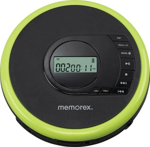 Memorex Portable CD, CD-R, CD-RW, Player With Bluetooth - Headphones Included.