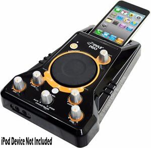 FULL FEATURE IPOD DJ CONSOLE TO MAXIMIZE YOUR DJ CREATIVITY WITH MIC INPUT - SCRATCH PAD - AND MORE!
