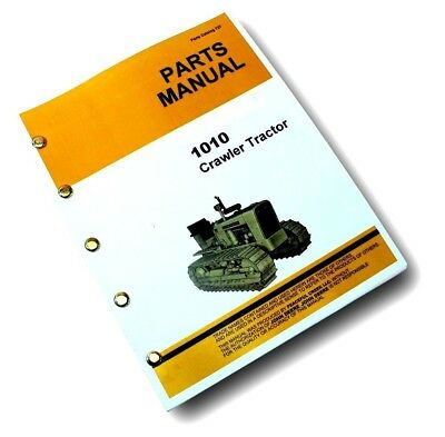 Parts Manual For John Deere 1010 Crawler Tractor Catalog Book