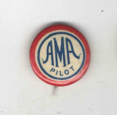 Vintage AVIATION pin AMA PILOT pinback