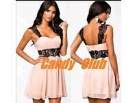 Size 10 pink n black dress