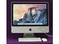 "2.4Ghz CORE 2 DUO 20"" APPLE iMac 6GB 1TB HD MS OFFICE 2016 VECTORWORKS CAPTURE ONE FINAL CUT PRO"